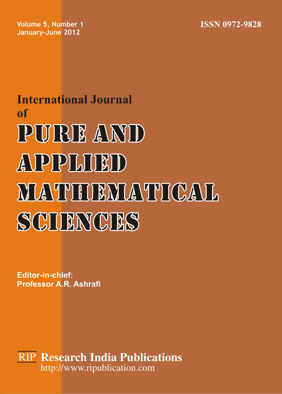 international journal of pure and applied Pure and applied mathematics journal (pamj) is a mathematical journal for publishing early, high-impact results in the areas of mathematics and computer science/informatics the international journal of systems science and applied mathematics.