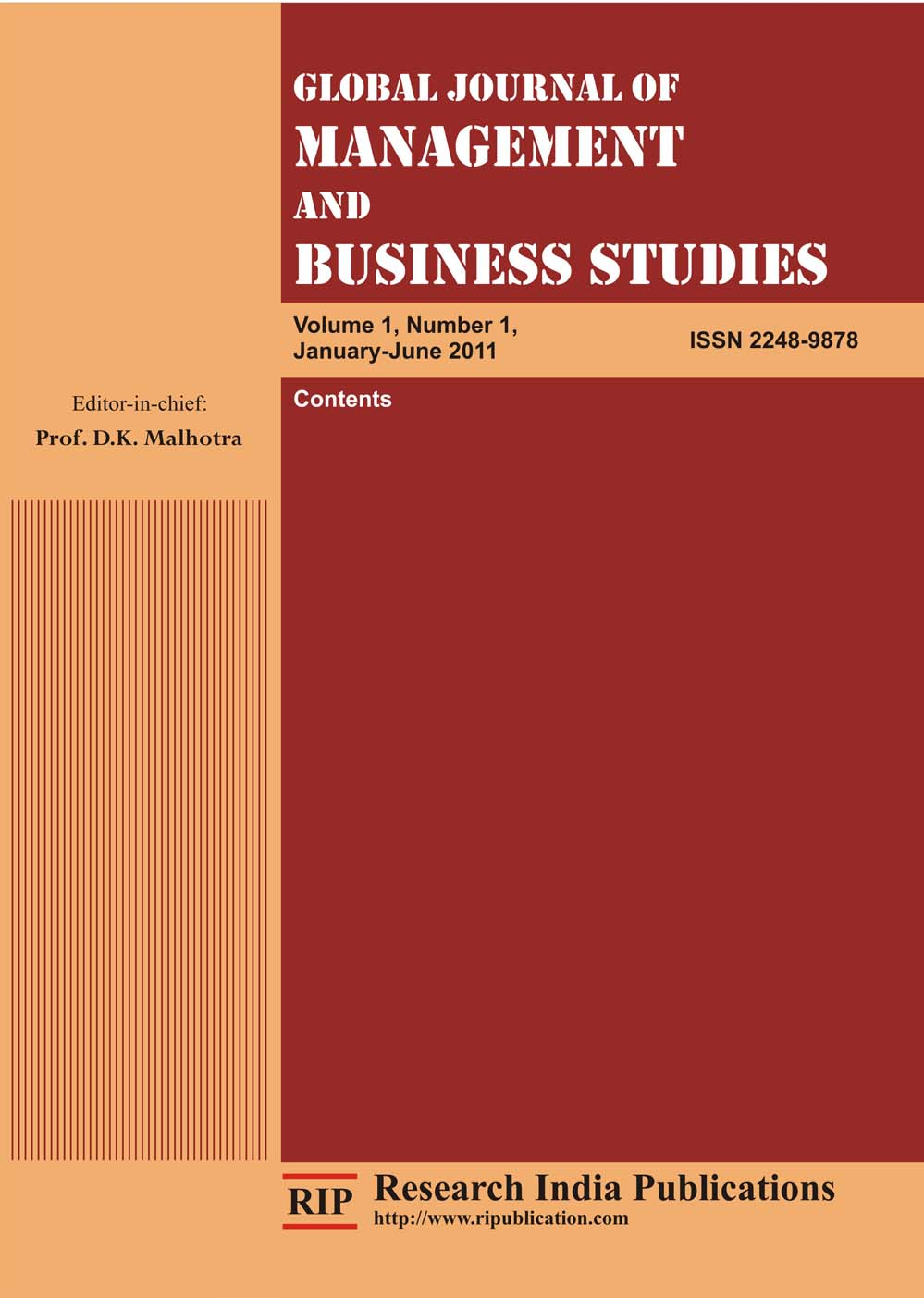 global journal of management and business Time to publish researches under global impact factor  journal  international journal of research in management & business  studies.