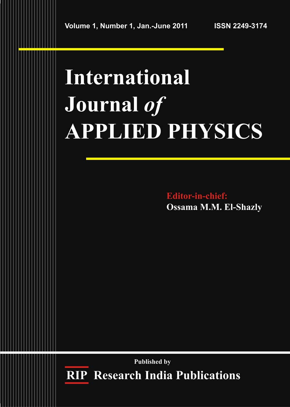 IJAP, International Journal of Applied Physics, Computer Science ...