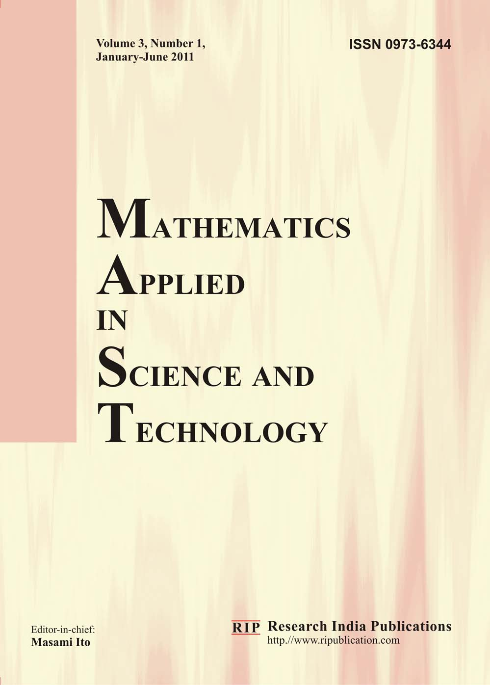 mast  mathematics applied in science and technology  mathematics journals  mathematical journals