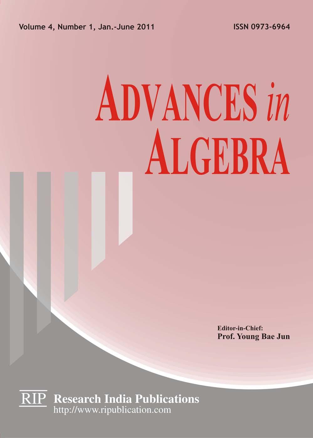 AA : Advances in Algebra, International Mathematics Journals