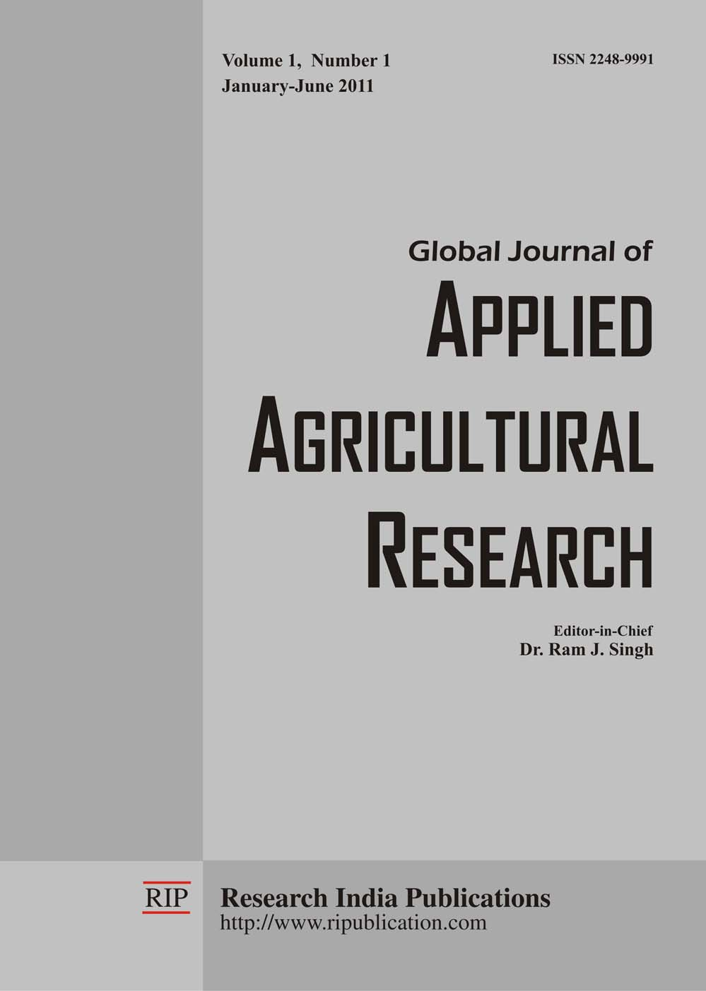 GJAAR, Global Journal of Applied Agricultural Research