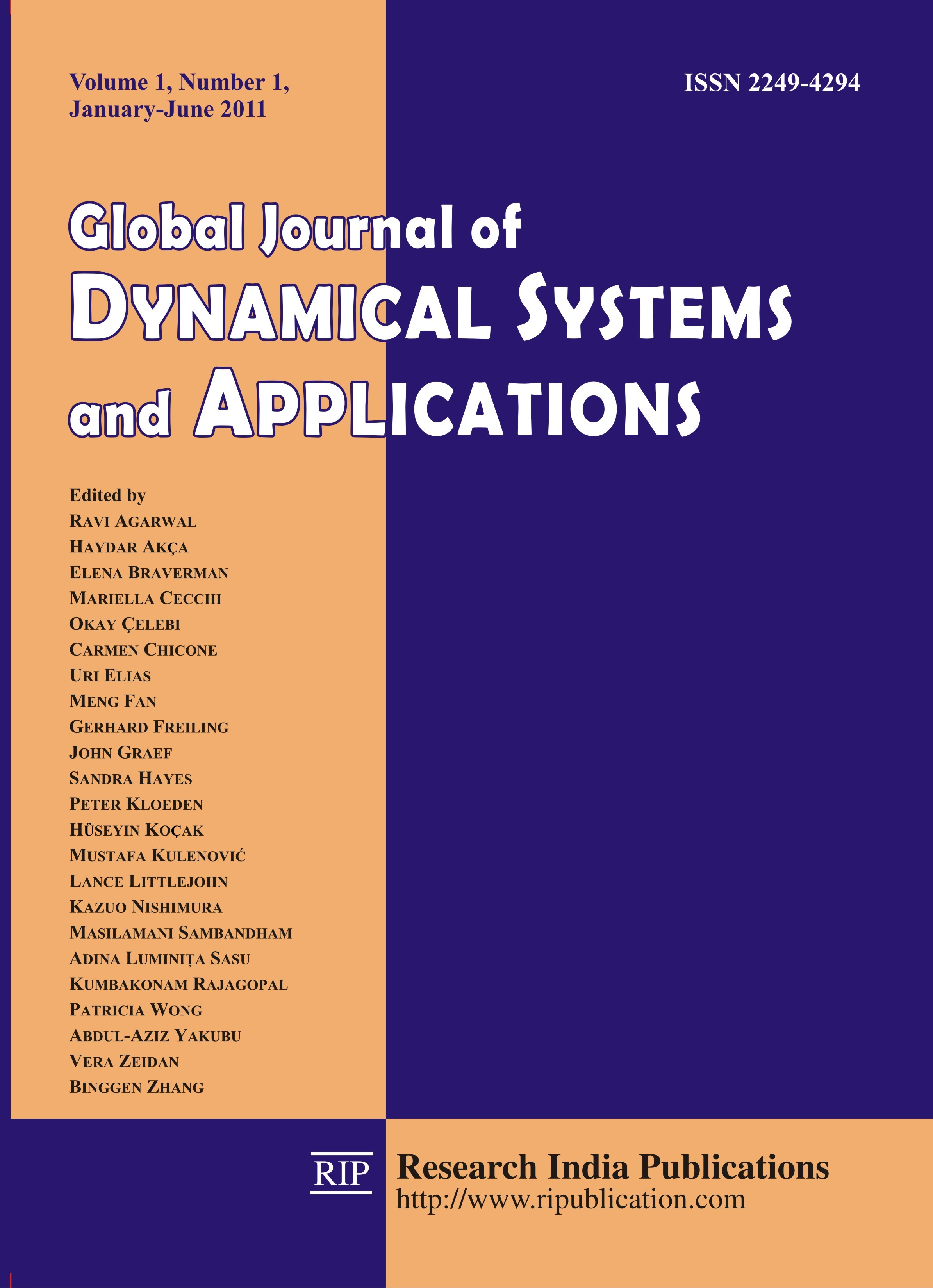 GJDSA, Global Journal of Dynamical System and Applications