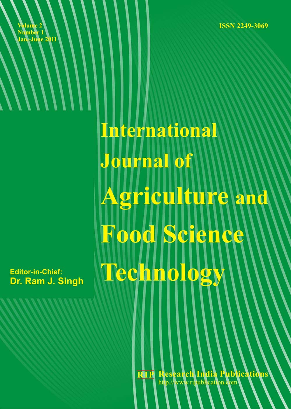 IJAFST, The International Journal of Agriculture Food