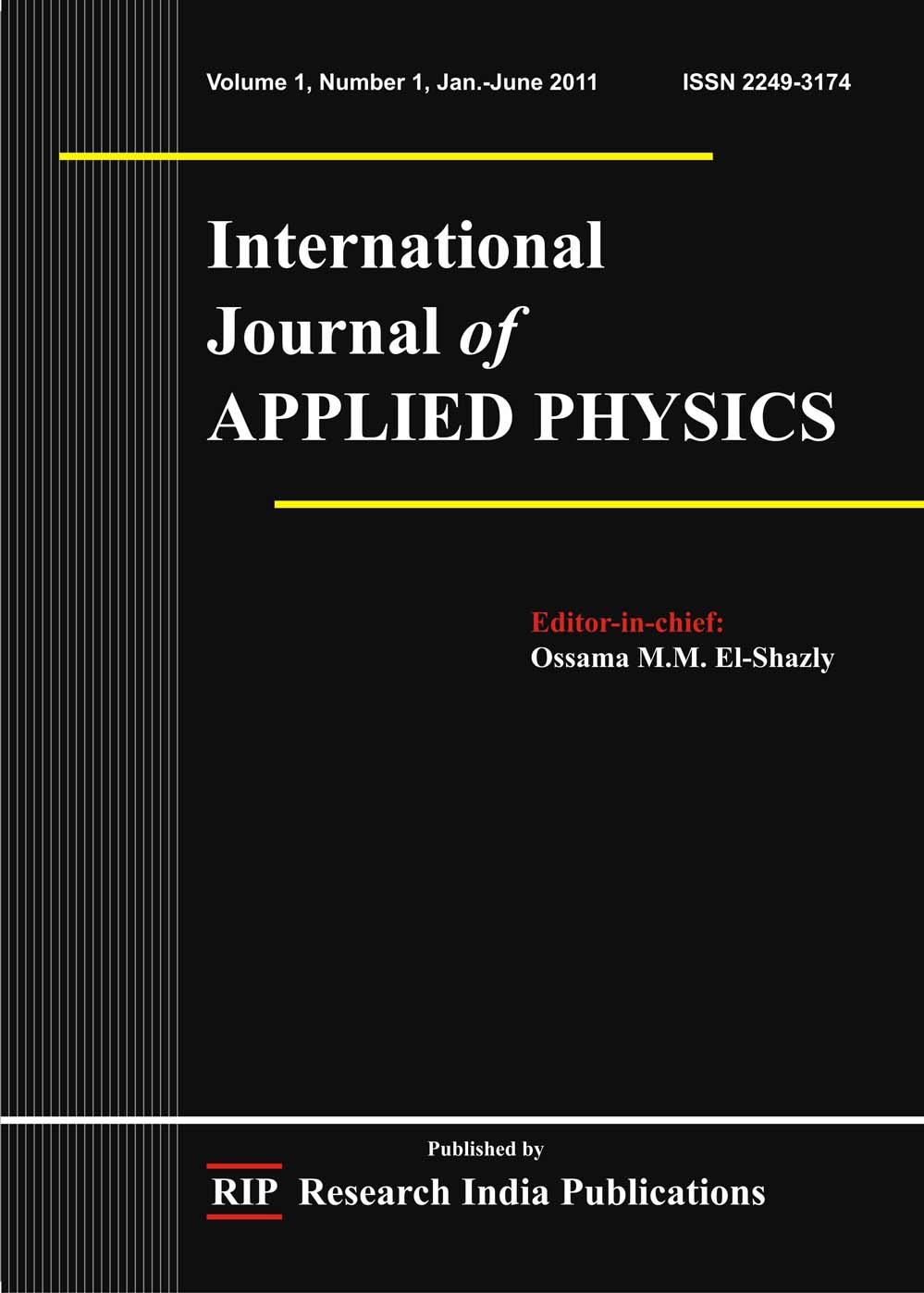 IJAP, International Journal of Applied Physics, Computer