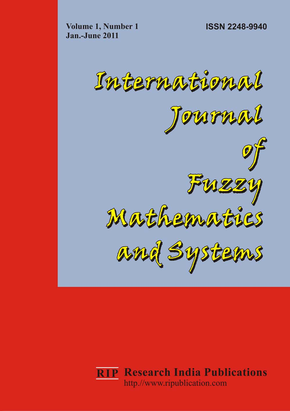 IJFMS International Journal of Fuzzy Mathematics and Systems